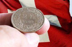 Moneta frank szwajcarski
