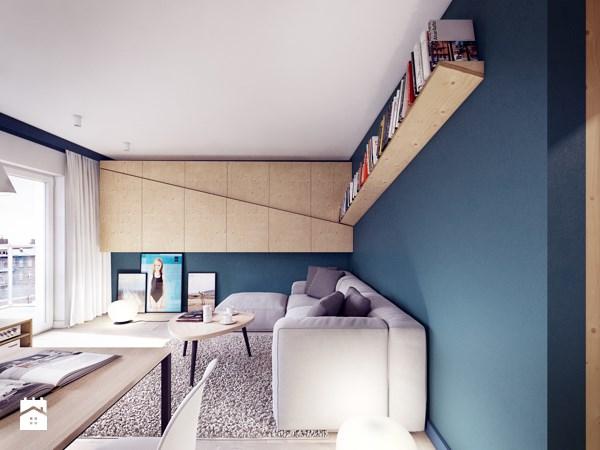 Wnętrze Mieszkania W Kolorze Granatowym Jak Podejść Do